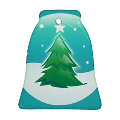 Winter Paradise Bell Ornament