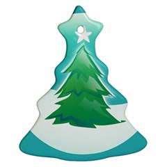 Winter Paradise Christmas Tree Ornament (Two Sides)