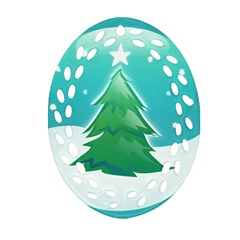 Winter Paradise Oval Filigree Ornament (Two Sides)