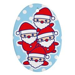 Santa s Oval Ornament