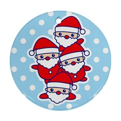 Santa s Round Ornament (Two Sides)