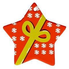 Present Star Ornament (Two Sides)