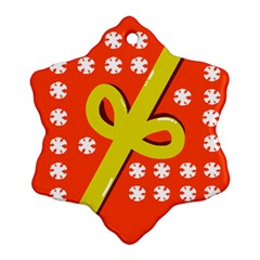 Present Snowflake Ornament (two Sides)