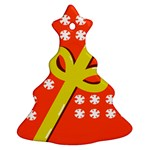 Present Christmas Tree Ornament (Two Sides) Back
