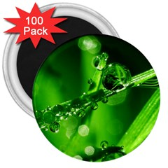 Waterdrops 3  Button Magnet (100 pack)