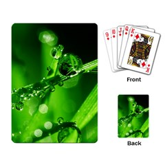 Waterdrops Playing Cards Single Design