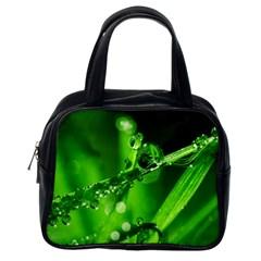 Waterdrops Classic Handbag (one Side)