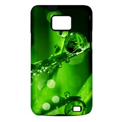 Waterdrops Samsung Galaxy S II Hardshell Case (PC+Silicone)