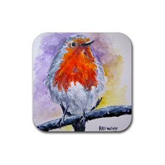 Robin Red Breast Drink Coasters 4 Pack (Square)