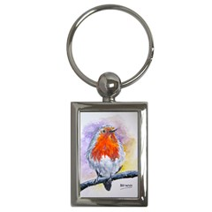 Robin Red Breast Key Chain (Rectangle)