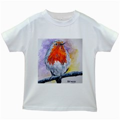 Robin Red Breast Kids' T-shirt (White)