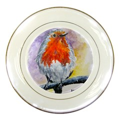 Robin Red Breast Porcelain Display Plate