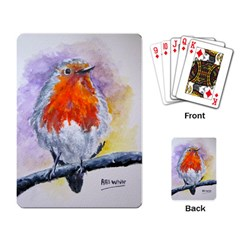 Robin Red Breast Playing Cards Single Design