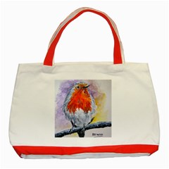 Robin Red Breast Classic Tote Bag (Red)