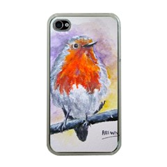 Robin Red Breast Apple Iphone 4 Case (clear)