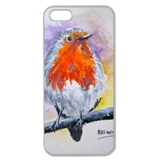 Robin Red Breast Apple Seamless iPhone 5 Case (Clear)