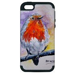 Robin Red Breast Apple Iphone 5 Hardshell Case (pc+silicone)