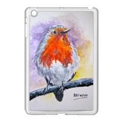 Robin Red Breast Apple iPad Mini Case (White)