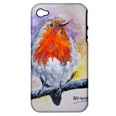 Robin Red Breast Apple iPhone 4/4S Hardshell Case (PC+Silicone)