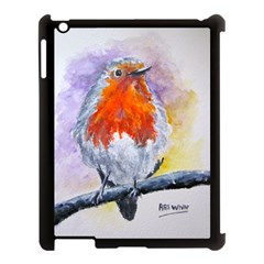 Robin Red Breast Apple iPad 3/4 Case (Black)