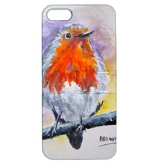 Robin Red Breast Apple Iphone 5 Hardshell Case With Stand