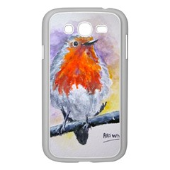 Robin Red Breast Samsung Galaxy Grand Duos I9082 Case (white)