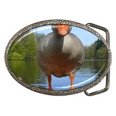 Geese Belt Buckle (Oval)