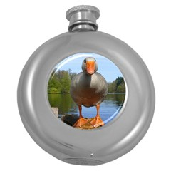 Geese Hip Flask (Round)