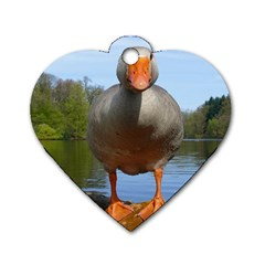 Geese Dog Tag Heart (one Sided)