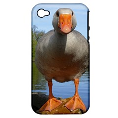 Geese Apple Iphone 4/4s Hardshell Case (pc+silicone)