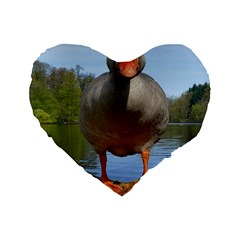 Geese 16  Premium Heart Shape Cushion