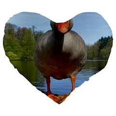 Geese 19  Premium Heart Shape Cushion