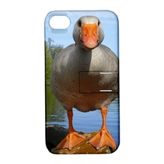 Geese Apple iPhone 4/4S Hardshell Case with Stand