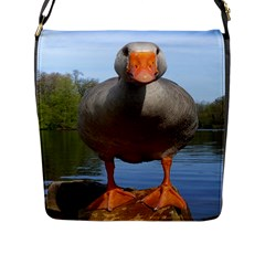 Geese Flap Closure Messenger Bag (Large)