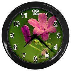 Campanula Close Up Wall Clock (Black)
