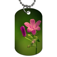 Campanula Close Up Dog Tag (Two-sided)