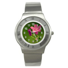 Campanula Close Up Stainless Steel Watch (Unisex)