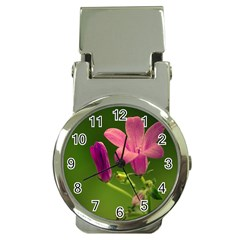 Campanula Close Up Money Clip With Watch