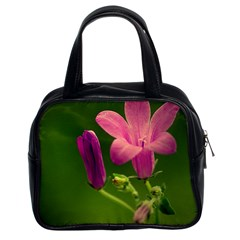 Campanula Close Up Classic Handbag (Two Sides)