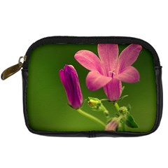 Campanula Close Up Digital Camera Leather Case