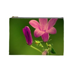 Campanula Close Up Cosmetic Bag (Large)