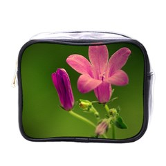 Campanula Close Up Mini Travel Toiletry Bag (one Side)