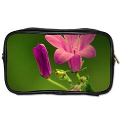 Campanula Close Up Travel Toiletry Bag (two Sides)