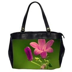 Campanula Close Up Oversize Office Handbag (Two Sides)