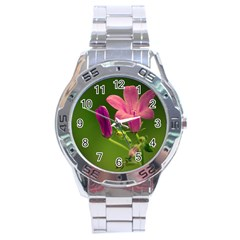Campanula Close Up Stainless Steel Watch (men s)