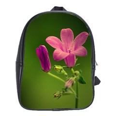 Campanula Close Up School Bag (XL)