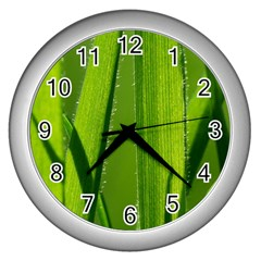 Grass Wall Clock (Silver)
