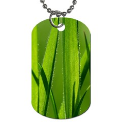 Grass Dog Tag (two Sided)