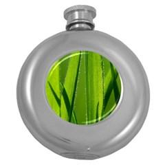 Grass Hip Flask (Round)