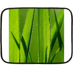 Grass Mini Fleece Blanket (Two Sided)